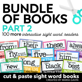 Bundle of Books, Part 2 {Interactive Sight Word Reader BUNDLED Set}