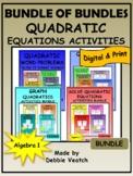 Bundle of Bundles: Quadratic Equations Activities
