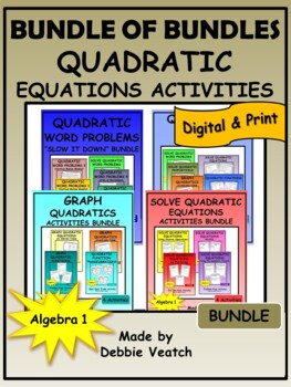 Bundle of Bundles: Quadratic Equations Activities
