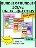 Bundle of Bundles: Solve Linear Equations Activities