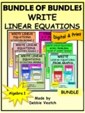 Bundle of Bundles: Write Linear Equations Activities