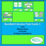 Bundle of Calculus Task Cards 1
