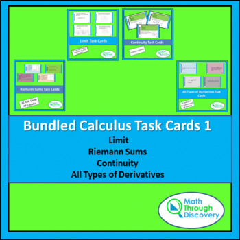 Bundle of Calculus Task Cards I