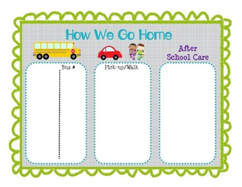 Bundle of Classroom Basics-Lost Tooth Chart- No-Clip Transportation