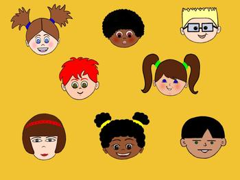 Bundle of Clip Art Kids Stock Photos - Clip Art Kids Picture Pack - Group of 8
