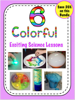 Bundle of Colorful Science Experiments With Interactive Notebook Flaps