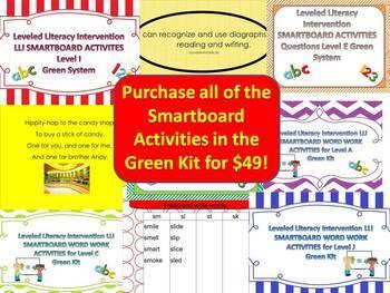 Bundle of Complete Set Smartboard Activities LLI Green System A-J 1st Edition