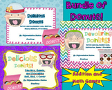 Bundle of Donuts! Addition, Subtraction, Number Lines, Games, and Printables