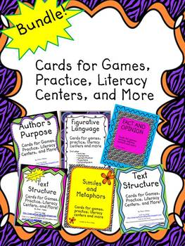 Bundle of ELA Cards for Games, Practice, Literacy Centers and More