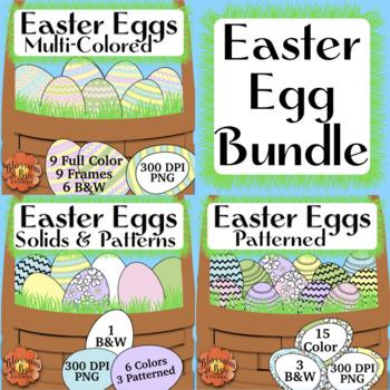 Easter Egg Clip Art Bundle