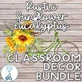 The Complete Set of Editable Rustic Sunflower Eucalyptus C