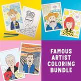 Bundle of Famous Artist Coloring Pages