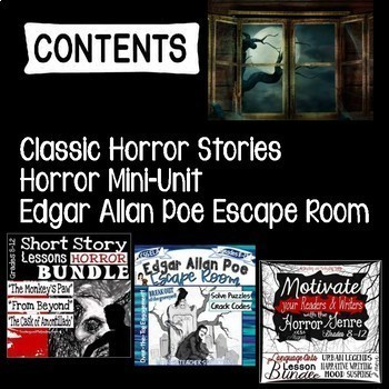 Bundle of Fear: Engaging Horror CCSS Language Arts Lessons for Grades 8-12