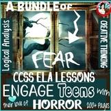 Bundle of Fear: Halloween Horror CCSS Language Arts Lessons for Grades 8-12