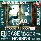 Language Arts Middle School and High School Horror Bundle | CCSS Based