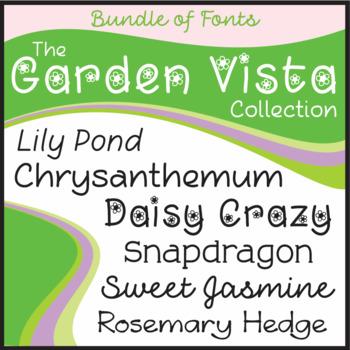 Bundle of Fonts - The Garden Vista Collection