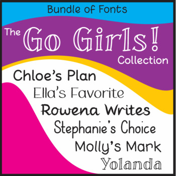 Bundle of Fonts - The Go Girls! Collection