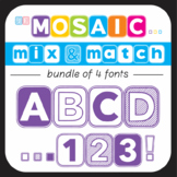 Bundle of 4 Fonts - The Mosaic Mix & Match Collection