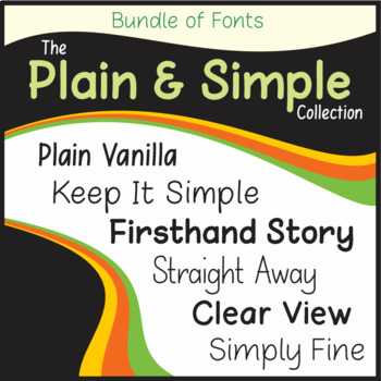 Bundle of Fonts - The Plain and Simple Collection