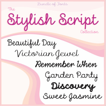 Bundle of Fonts - The Stylish Script Collection