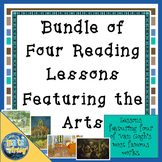 Bundle of Four Reading Lesson Plans Featuring the Arts  Constructed Response