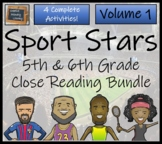 Bundle of Four 'Superstars of Sport' Close Reading Activities