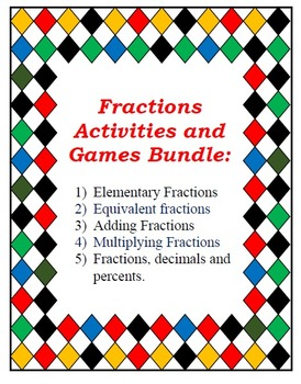 Bundle of Fractions Resources: Centers, Games and Activiti