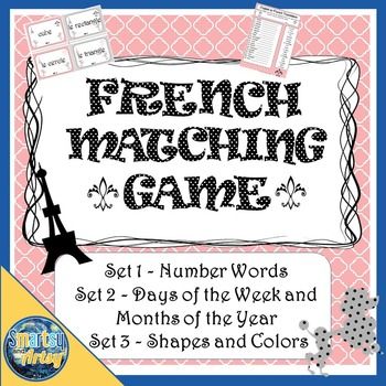 Bundle of French Flashcard Matching Games Sets 1 2 and 3