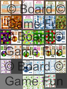 Bundle of Fun Game Boards for Fall, Winter, and Spring