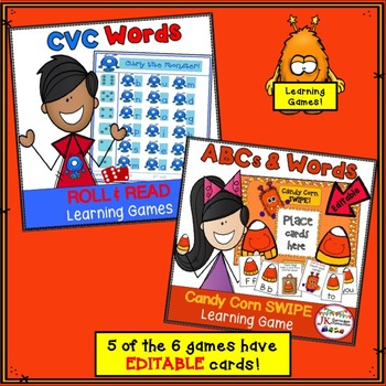 Halloween Bundle of Literacy and Math Games