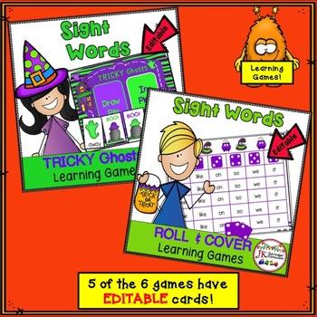 Halloween Bundle of Literacy Learning Games