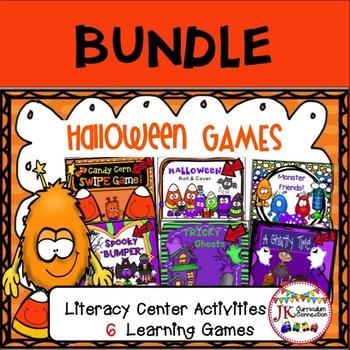 Literacy Learning Games BUNDLE - Halloween Theme