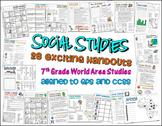 Bundle of 28 Worksheets for 7th Grade Social Studies GPS Georgia