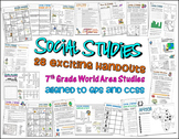 Bundle of 28 Worksheets for 7th Grade Social Studies GPS Georgia