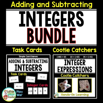 Adding and Subtracting Integers BUNDLE - Task Cards & Coot