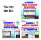 Bundle of Interactive Algebra 1 Activities with GOOGLE slides