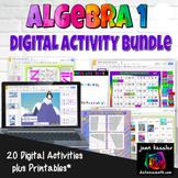 Algebra 1 Digital Bundle of Interactive Activities with GOOGLE  and Printables