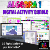Bundle of Interactive Algebra 1 Activities with GOOGLE slides