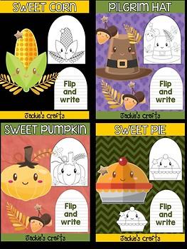 Bundle of Jackie's Craft - Sweet Thanksgiving, Writing Activity, turkey, pumpkin