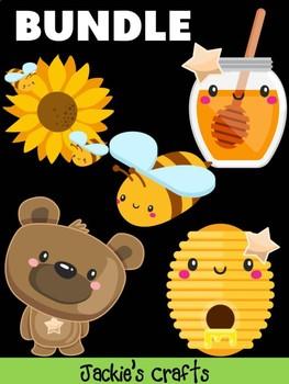 Bundle of Jackie's Crafts -  Bear, Bees, Honey, Sunflower Craftivity, Activity