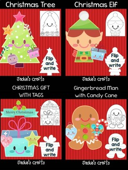 Christmas Fun - Bundle of Jackie's Crafts, 6 Crafts, Winter Activities