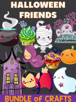Bundle of Jackie's Crafts -  Halloween Friends, Writing Crafts, Activities