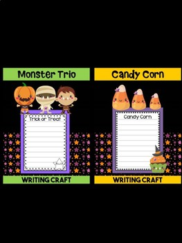 Bundle of Jackie's Crafts -  Halloween Fun, Monsters Writing Crafts