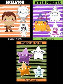 Bundle of Jackie's Crafts -  Halloween Monsters Trick or Treat, Writing Crafts