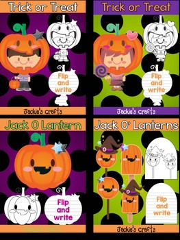Bundle of Jackie's Crafts -  Halloween Trick or Treat, Writing Crafts, Activity