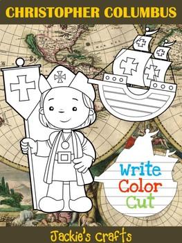 Bundle of Jackies Crafts - Christopher Columbus & Ships - Writing Activity