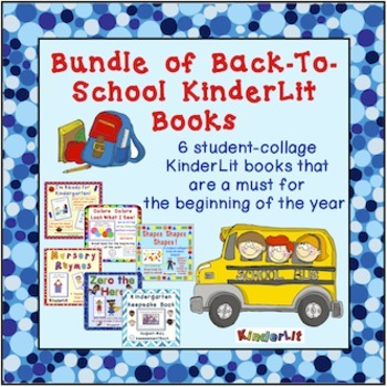 Bundle of KinderLit Back To School Books