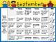 Bundle of Kindergarten Homework Calendars September-June *