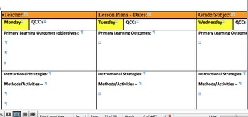 Bundle of Lesson plans and lesson plan templates