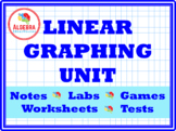 Bundle of Linear Graphing worksheets, tests, games, activities, investigations